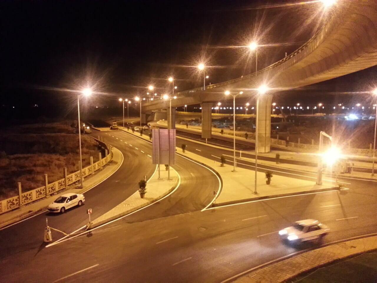 پایه روشنایی در شهر قزوین